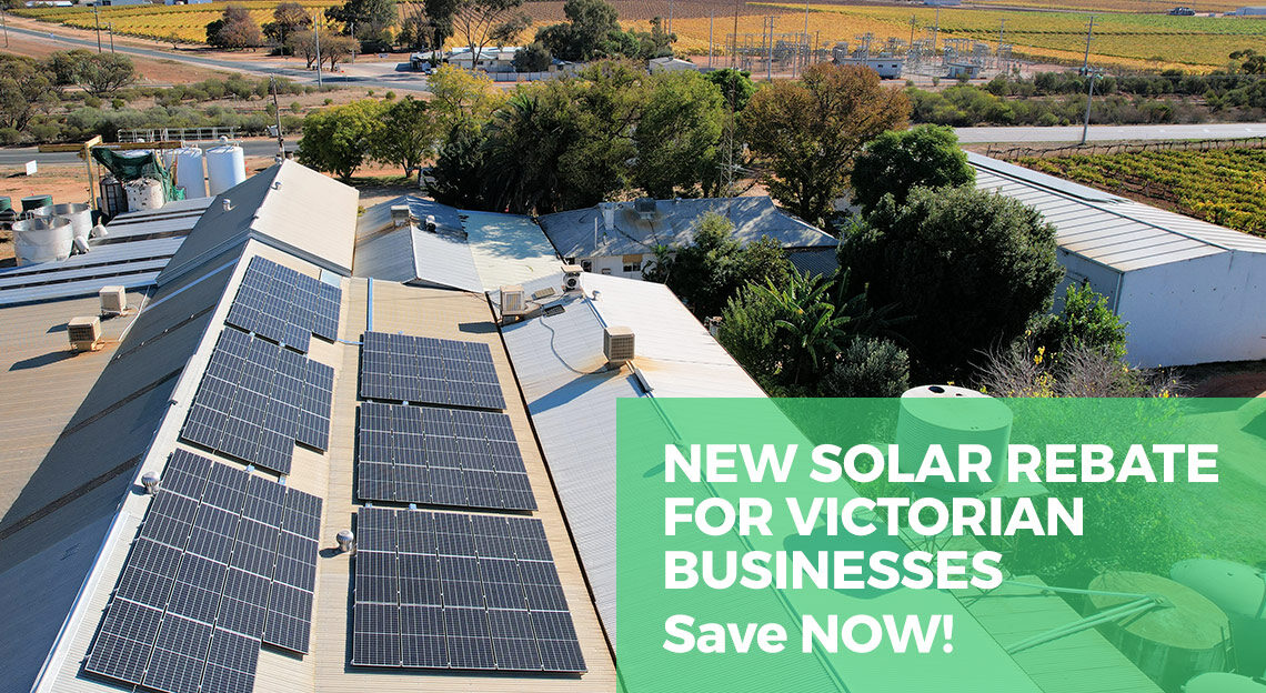 New solar rebate for Victorian businesses. Save now!