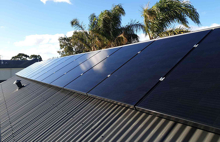 Solar Install SunPower black panels