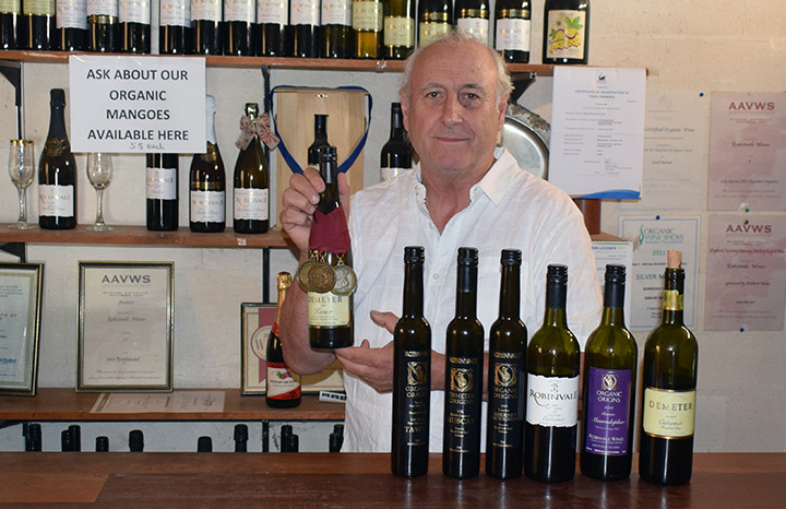 Steve Caracatsanoudis one of the owners of Robinvale Wines