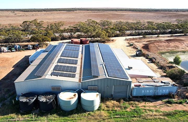 Burkett Orange Farm Solar Install