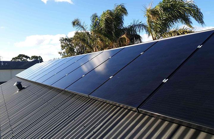 Solar Install SunPower black panels