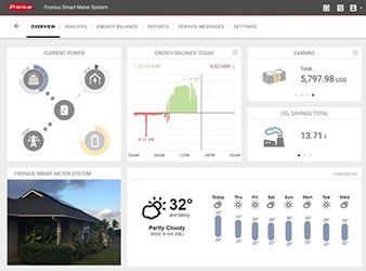 Fronius Solar Web Monitoring Portal