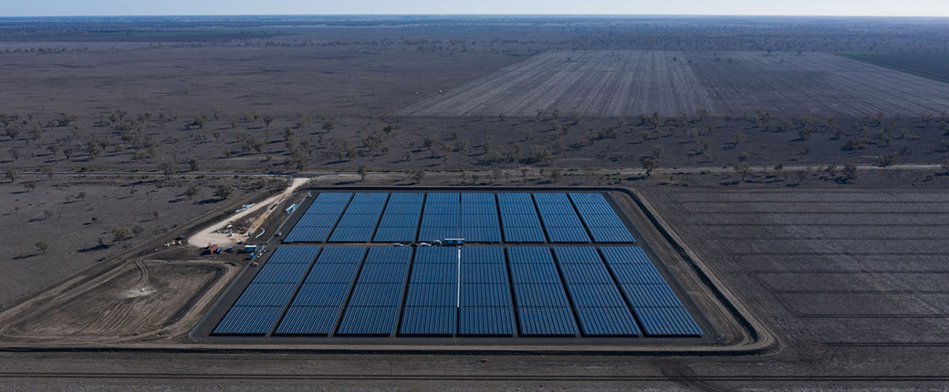 Seraphim Panels at the Kanowna Solar Farm
