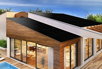 Solaria modern house with Solaria solar roof panels