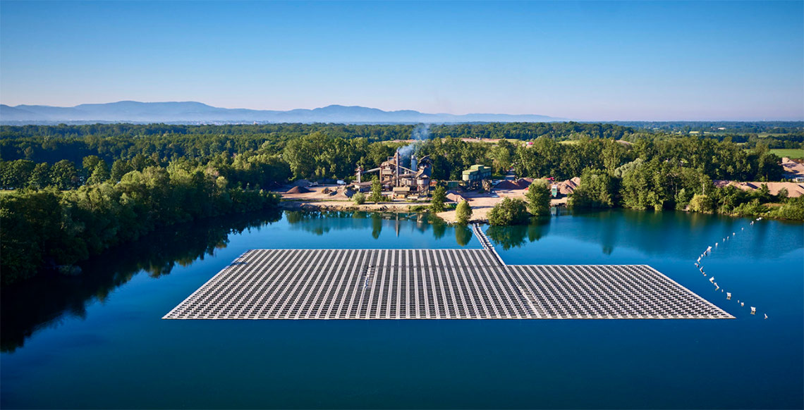 Germany's largest floating solar PV plant in Achern, 750kW