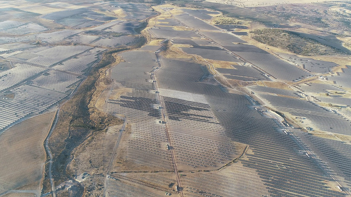 Europe's biggest PV project – the 500MW Iberdrola Solar Power Plant in Extremadura, Spain