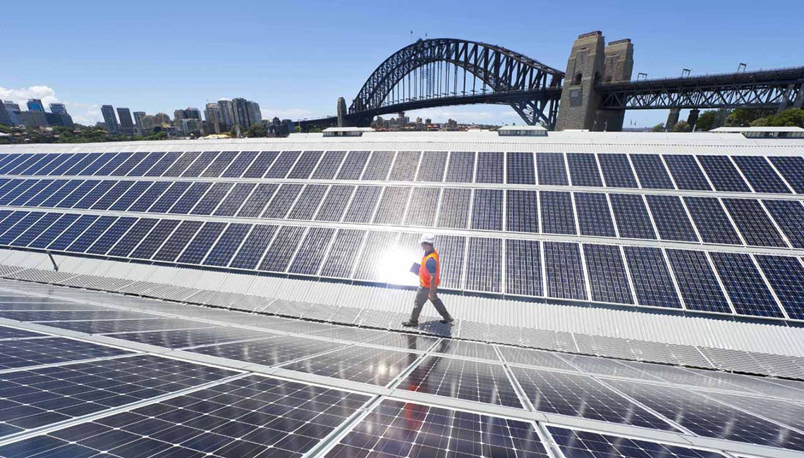 The Wharf, home of the Sydney Theatre Company, has a 384kW Suntech solar panel array