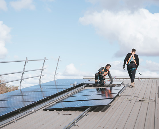 Specialized Solar installers at work
